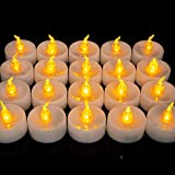 Best Flameless Tea Lights - Homemory LED Tea Lights, Set of 24 Flameless Review