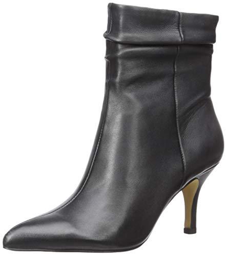 Bella Vita Women's Danielle Dress Bootie Ankle Boot, Black Leather, 11 W US