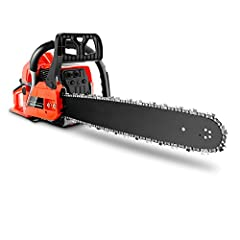 🎈 High Performance&Claim 🔭Chainsaw 62CC 3.5HP powerful gas chainsaw delivers steady power to the 35-inch bar and low-kickback chain. Two-stroke Gasoline Engine The engine speed can be up to 8500 rpm. Ideal tool for cutting firewood and felling trees ...