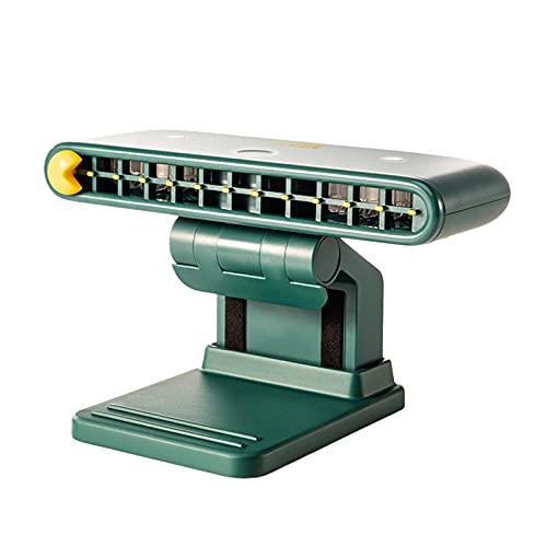 LIDABAO Miniventilador portátil que ahorra espacio, carga USB, 3 velocidades, ajustable para el hogar y la oficina