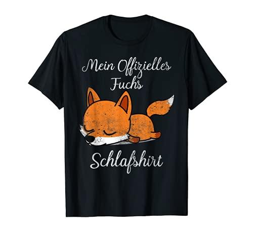 Schlafshirt Pyjama Schlafanzug Nachthemd Fuchs Geschenk T-Shirt