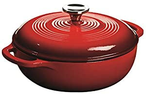 Lodge Enameled Cast Iron Dutch Oven, 3-Quart, Island Spice Red