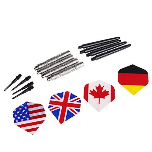 lyqdxd Professionelle Sicherheits-Dartpfeile mit Nationalmuster für Flügel, Schwanz, Spielzeug, Zubehör, 4 Stück