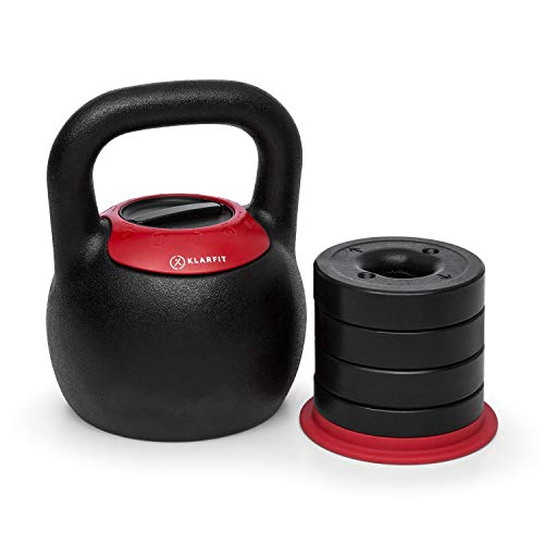 KLAR FIT Klarfit Adjustabell Adjustable Kettlebell - Ball Dumbbell, Home...