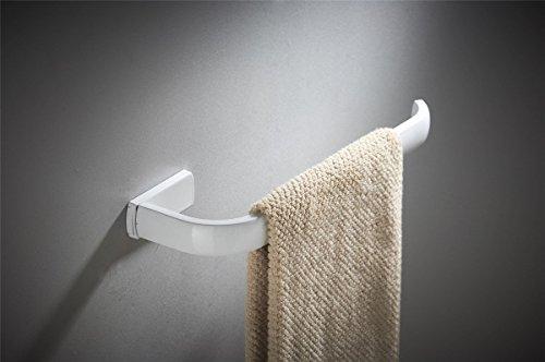 Bathfirst Handtuchhalter einzelne Messing weiß 61 CM/24 Inchs Wand für Bad und Küche 4