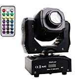 LED Moving Head Lights 60W,8 Gobo 8 Pattern Spotlight Sound Activated with DMX Controller strobe lights for Parties, laser light show,Disco club lights, Stage Lighting, DJ Equipment Lights