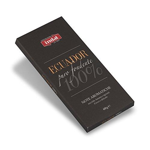 cioccolato puro fondente 'Ecuador' 100% - note aromatiche - Indal 60 gr