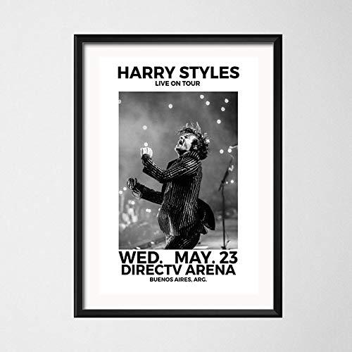 zhuifengshaonian Carteles e Impresiones Harry Styles World Tour Cantante en Vivo Lienzo Pintura Pared Arte Imagen música decoración del hogar(Zt-2597) Sin Marco Poster 40x50cm