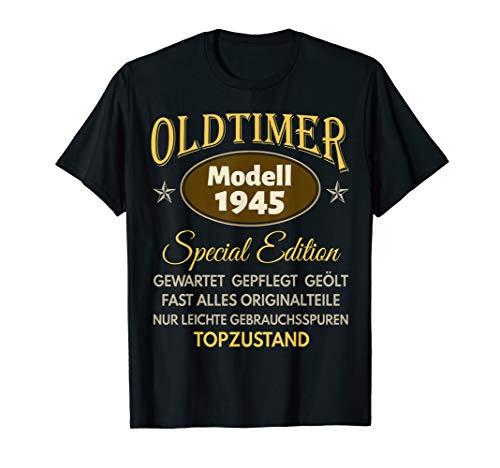 75. Geburtstag Mann Frau 75 Jahre Damen Herren 1945 Geschenk T-Shirt