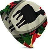 Whecom Cappello Uomo Christmas Wish Llama Valentine Funny Upgrade Hip- Adult Knit Beanie Warm Berretto Uomo in Maglia One Size for Men Women Hats,Christmas Hat
