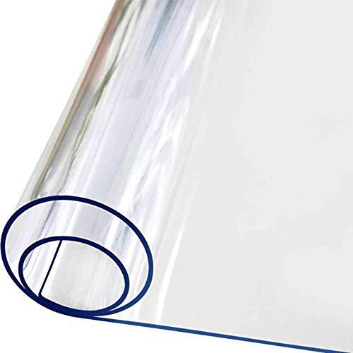 ZKORN Alfombra De Protección para Pisos, Alfombra De Plástico Transparente para El Hogar, Resistente a Los Arañazos, Cojín para Silla De Oficina, PVC, Alfombra De Protección Antideslizante