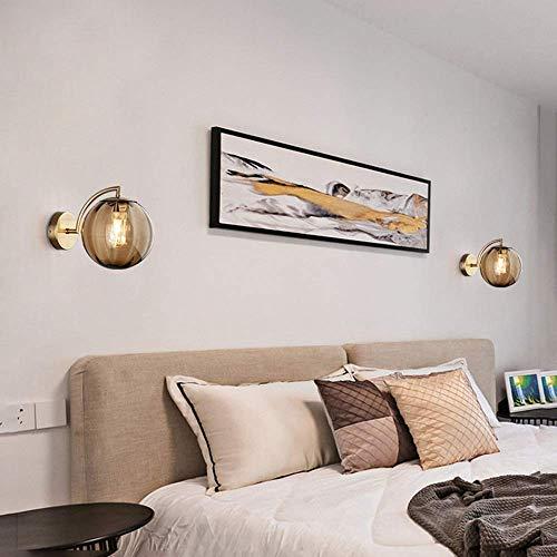 YANQING lamp - gekleurd glas wandlamp moderne binnenverlichting hotel huis woonkamer slaapkamer gang warm licht LED 23 * 15cm Illuminate uw leven (kleur: paars), kleur: blauw