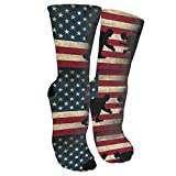 American Flag Wrestling Unisex Long Cotton Compression Socks With Funny Patterned For Ski, Softball And Hockey Athletic