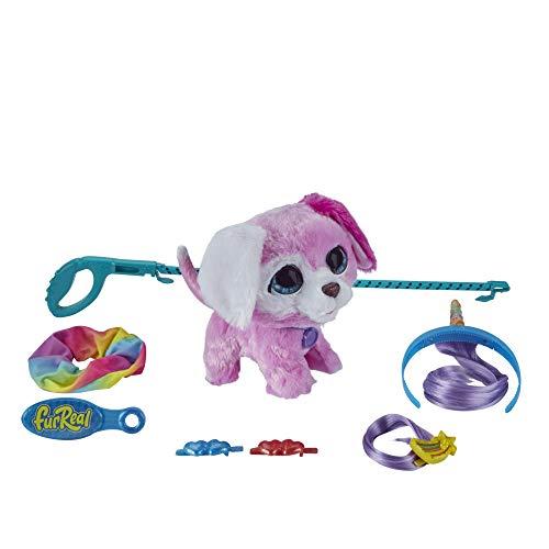Hasbro FurReal Glamalots interaktives Spielzeugtier, niedliches Hündchen mit 7 Accessoires, ab 4 Jahren