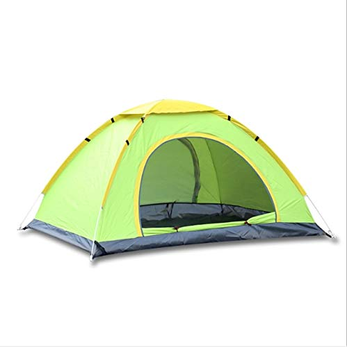 Mdsfe 3-4 Person Outdoor Quick Automatic Open tents Double Layers Tent Waterproof Camping Hiking Ultraviolet-proof Sun Shelter Tent-Green Single Layers