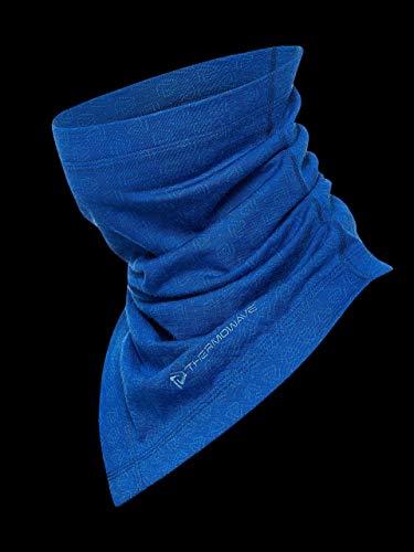 Thermowave ronde sjaal, Loop, Chute, Merinosjaal #blauw