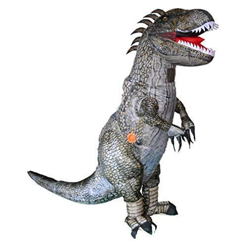 Disfraz hinchable de dinosaurio Dress Up Puntelli Tyrannosaurus Cosplay disfraz multicolor adulto 1.6 – 1.9 M