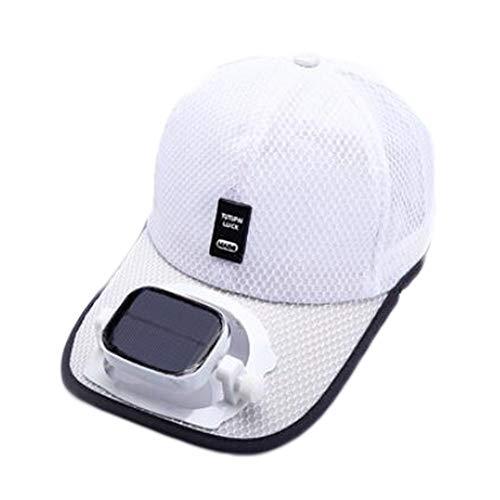 ANHPI Enfriamiento del Ventilador Sombrero de Beisbol Carga Dual USB Solar al Aire Libre Sombra Protector Solar Gorro de Viaje Deportivo, 5 Colores (Color : #4, Size : Head Circumference (56-62cm))