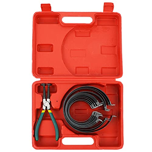 Veemoon Kit de Herramientas de Compresor de Anillo de Pistón de Motor de Coche Instalador de Cilindros Automotrices con Alicates Caja de Transporte para Motor de Automóvil de Camión