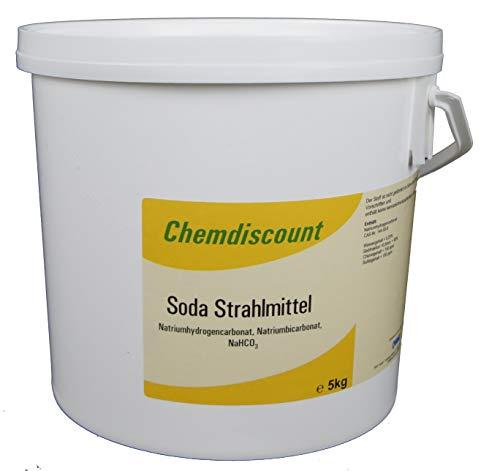 Preisvergleich Produktbild 5 kg (Back-)Soda als Strahlmittel Strahlgut zum Sodastrahlen,  Backsodatrahlen Strahlsoda