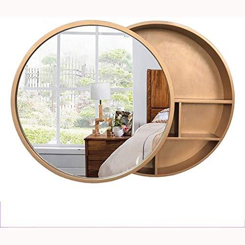 SXFYWYM Armarios con Espejo Gabinete Madera Maciza Espejo De Baño Gabinete Multi-función De Almacenamiento Espejo Tocador Espejo
