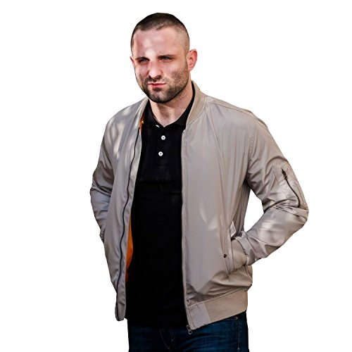 PG Wear Bomberjacke Force in Navy Olive beige (XL, Beige)