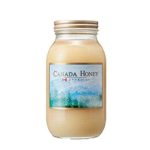 [熊手のはちみつ] 無濾過カナダ産はちみつ 結晶タイプ(1.2kg瓶) 100%純粋 ハチミツ 蜂蜜
