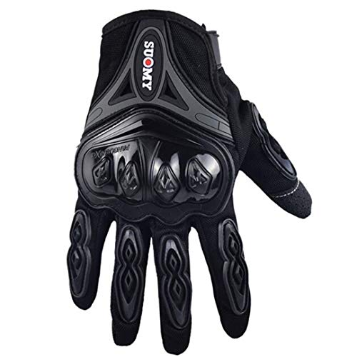 Guantes de Moto Guantes Verdes de Carreras de Motocross Dedo Completo Guantes de Ciclismo Moto Moto Black XXL