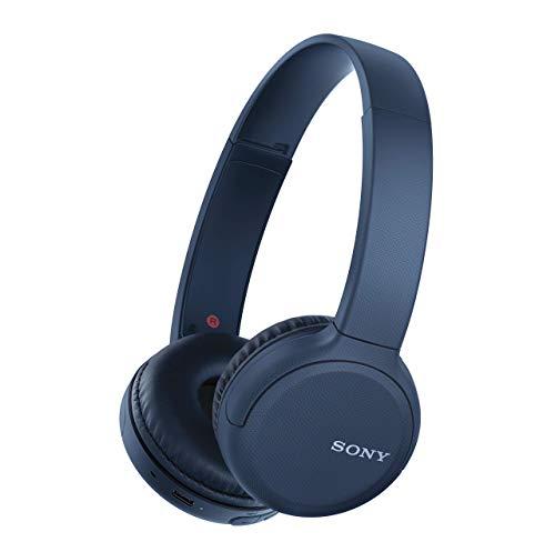 Sony WH-CH510 - ¿Muchas Llamadas y videollamadas Desde casa? Prueba Nuestros Auriculares de Diadema Bluetooth con hasta 35h de autonomía, Azul (Reacondicionado)