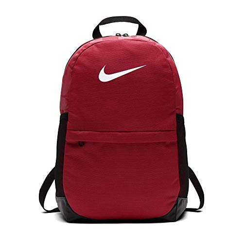 Nike Kids' Brasilia Backpack, Kids' Backpack with Durable Design & Secure Storage, University Red/Black/White