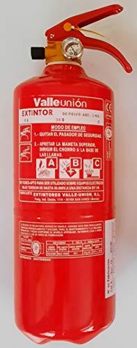 Extintor polvo ABC 2 kgs con soporte incluido eficacia 5A 21