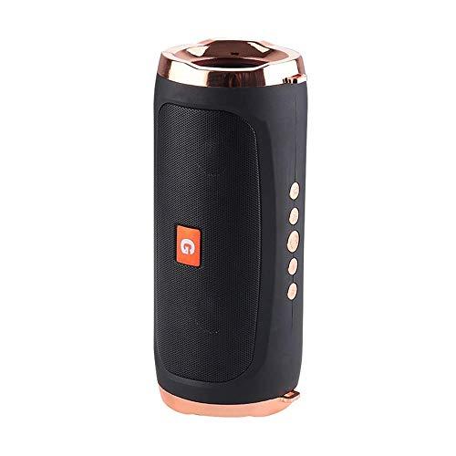 Gymqian Altavoz Inalámbrico de Bluetooth 5.0 de Tipo Portátil, Altavoz Dual Y Diafragma Dual Altavoz Al Aire Libre, Bajos Estéreo, Cuatro Modos de Reproducción, Ipx4 Impermeable, Ad