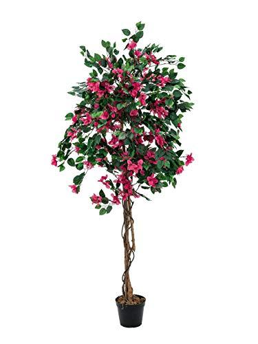 artplants.de Buganvilla con 1200 Hojas, 500 Flores, Fucsia, 180cm - Planta Artificial - árbol sintético