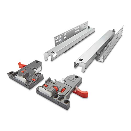 SOTECH 1 Paar Vollauszüge Holzschublade UV2-30-K3D-L400-SC FullSlide mit 3D Verstellung 400 mm SoftClose Belastbar bis 30Kg