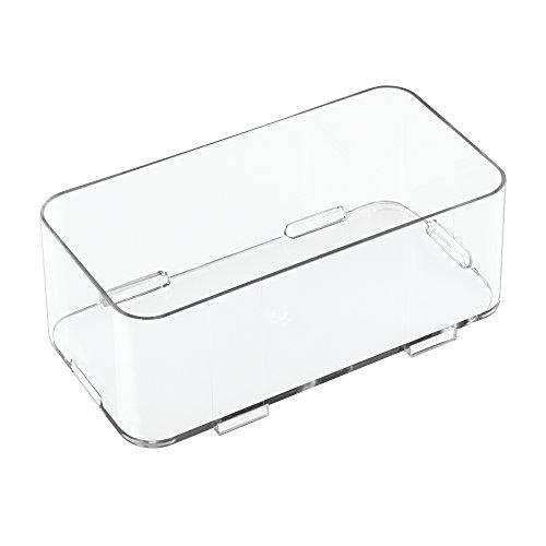 iDesign 41410EU Clarity in elkaar grijpende schuifladen-organizer middelgroot, 10,25 cm x 20,25 cm x 7,5 cm, doorzichtig, kunststof