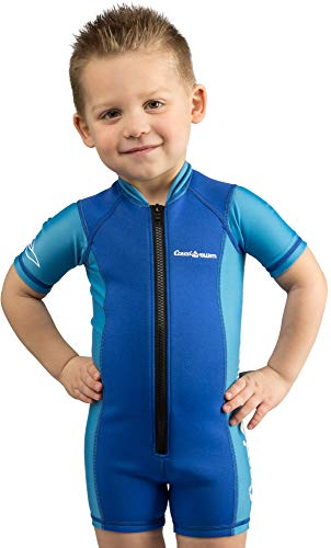 Cressi Kids Premium Neoprene 2mm Shorty Wetsuit, Thermal Protection, Medium (Blue)