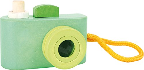 small foot 3124 Spielkamera aus Holz, mit quietschendem Auslöser und Kaleidoskop als Objektiv, ab 12 Monaten