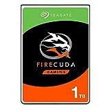 Seagate FireCuda, 1 TB, Disco duro interno híbrido, SSHD de alto rendimiento, 2,5 in, SATA, 6 GB/s, aceleración mediante flash, caché de 8 GB, 3 años de servicios Rescue (ST1000LX015)