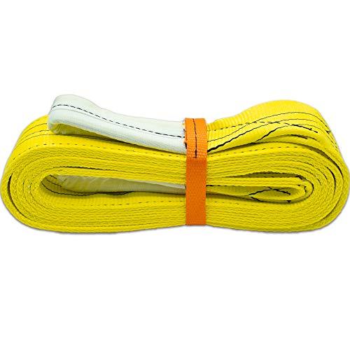 Autodomy Eslinga 4x4 Profesional - Cuerda Remolque - Resistencia 21.000 Kg Rotura - Accesorio de Emergencia para Rescate Vehículos - Made in EU (5 Metros)