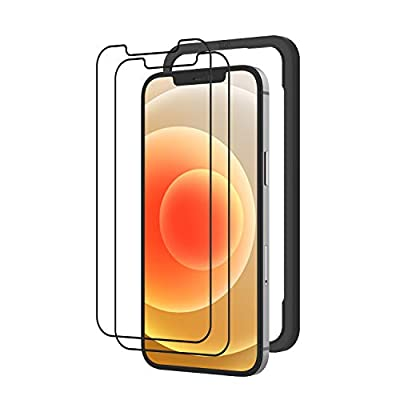 【2枚セット】 NIMASO iPhone12 / iPhone 12 pro ガラスフィルム 液晶保護 フィルム 【ガイド枠付き】