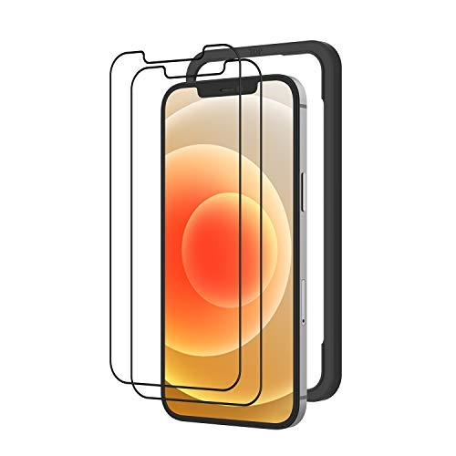 NIMASO ガラスフィルム iPhone12 / iPhone 12 pro 専用 液晶保護 フィルム 2枚セット ガイド枠付き