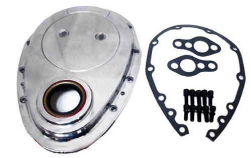 Chevy Small Block 283-305-327-350-400 Aluminum Timing Chain Cover Set - Polished
