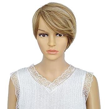 QueenYoung Wigs for Black Women Short hair Cut Wigs Side Bangs Shortwigs for black women synthetic hair  P22/6