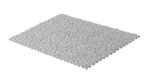 UPP Outdoor Gartenplatten Klickfliesen 30 x 30 cm | Wetterfester Bodenbelag für Balkon, Garten & Terrasse | Einfach & Schnell verlegt [24 Teile, Stein]