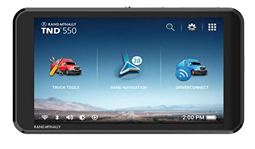 Rand McNally TND 550 5-inch GPS Truck Navigator Easy-to-Read Display Custom Truck Routing and Rand Navigation 2.0