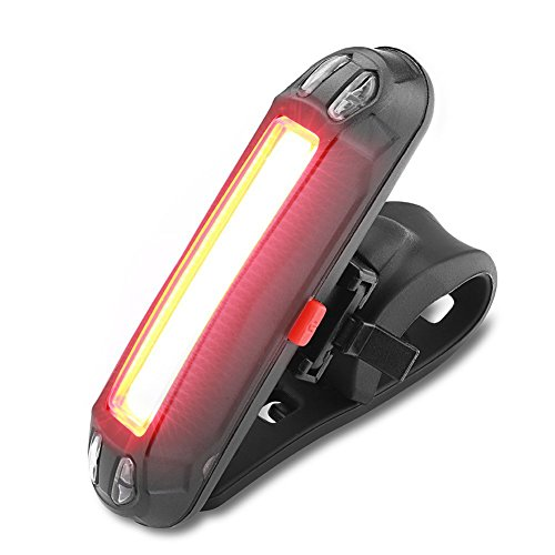 WOTUMEO Bicicleta Luces Traseras USB Recargable Impermeable Super Brillante Luz LED Bicicleta Fácil Instalar Luz Trasera Roja Lámpara 6 Modos De Luces De Seguridad De La Bicicleta