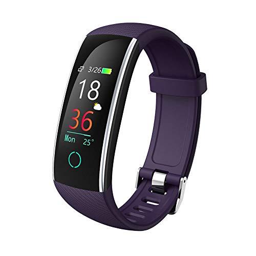 ZQINY Fitness Tracker Fitness Tracker Activity Smart-Armband Armband met pedometer hartslagmeter bloeddrukmeter Waterdicht IP67 Call Reminder Stopwatch voor mannen en vrouwen dames en kinderen, B