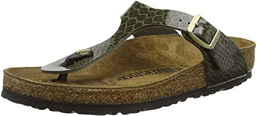 Birkenstock Gizeh, Infradito Donna, Verde (Magic Snake Khaki Magic Snake Khaki), 38 EU