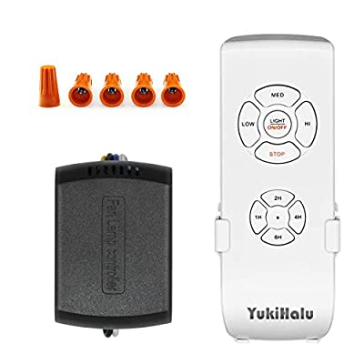 YUKIHALU 3-in-1 Small Size Universal Ceiling Fan Remote Control Kit with Light and Timing, Wireless Remote Control and Receiver Kits for Ceiling Fan Lamp