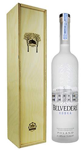 Belvedere Wodka 3,0l in Premium-Rum Holzbox - Premium Vodka aus Polen